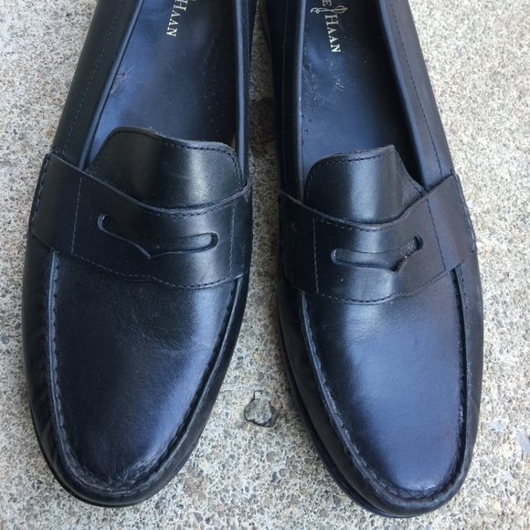 4206721d74c Cole Haan Shoes - Women s Cole Haan Black Leather Penny Loafers 10M